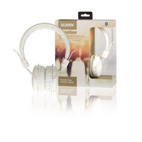 Sluchátka Na Uši Bluetooth 1.00 m Bílá