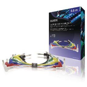 Stereo Audio Kabel 6.35mm Zástrèka - 6.35mm Zástrèka 0.50 m Tmavì Šedá - zvìtšit obrázek