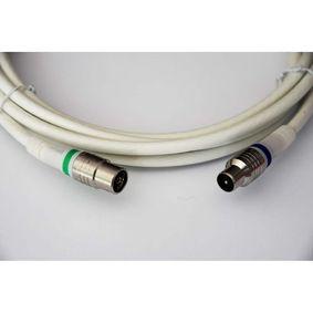 Koaxiální Kabel IEC / Coax IEC Male - IEC Female Pøímý 1.5 m Bílá