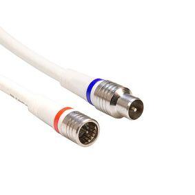 Koaxi�ln� Kabel P�emluvit IEC Female - F Z�str�ka P��m� 1.5 m B�l� - zv�t�it obr�zek