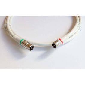 Koaxi�ln� Kabel P�emluvit IEC Female - F Z�str�ka P��m� 1.5 m B�l�