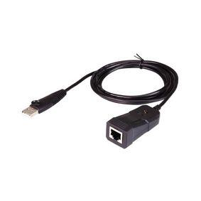 Adaptér USB 2.0 Rovný USB Typ A - RJ45 Èerná