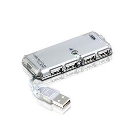 4 Porty Rozbo�ova� USB 2.0 Po��ta� St��brn�