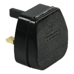 Napájecí Konektor UK / Typ G 90 ° 3 A Èerná