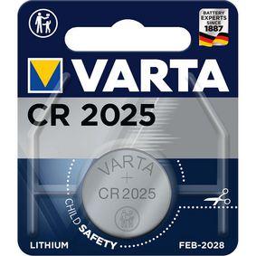 Lithiová Knoflíková Baterie CR2025 3 V 1-Blistr - zvìtšit obrázek
