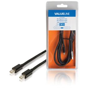 Kabel Mini DisplayPort Mini DisplayPort Zástrèka - Mini DisplayPort Zástrèka 2.00 m Èerná - zvìtšit obrázek