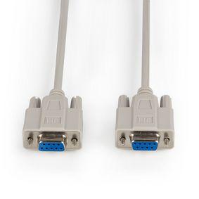 Kabel Null Modem D-SUB 9kol�kov� Z�suvka - D-SUB 9kol�kov� Z�suvka 3.0 m Slonov� Kost