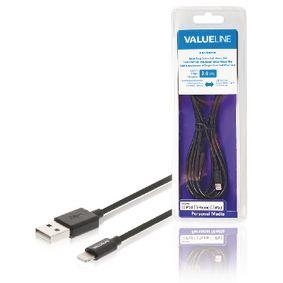 Synchronizaèní a Nabíjecí Kabel Apple Lightning - USB A Zástrèka 2.00 m Èerná