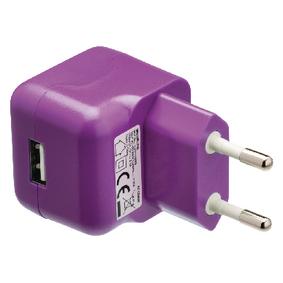Nabíjeèka 1 - Výstup 2.1 A USB Fialová