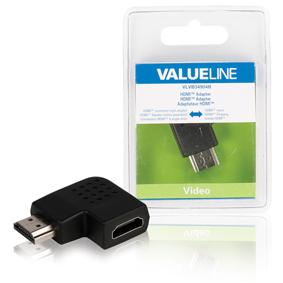 Adaptérem High Speed HDMI s Ethernetem Úhlový Pravý HDMI Konektor - HDMI Zásuvka Èerná