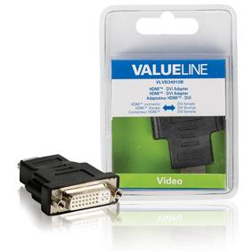 Adaptérem High Speed HDMI s Ethernetem HDMI Konektor - DVI-D 24 1p Zásuvka Èerná