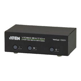 2-Port VGA Pøepínaè S Podporou Zvuku Èerná