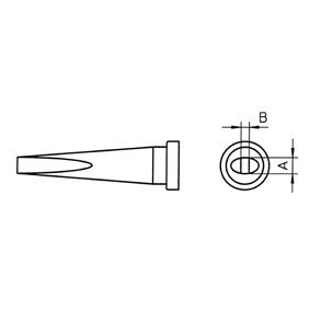 Pájecí Hrot 1.2 x 0.4 mm
