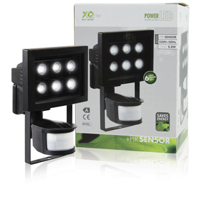 LED Reflektor se Senzorem 8.8 W 210 lm Èerná