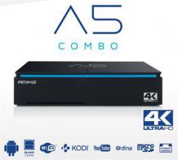 AMIKO A5 satelitní pøíjímaè COMBO S2/T2/C hybrid s Android, H.265 (HEVC)
