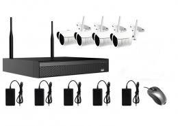 AMIKO WIFI KIT1, kamerov� WIFI SET, 4 IP kamery 2MP, NVR 4CH