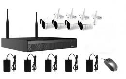 AMIKO WIFI KIT4, kamerov� WIFI SET, 4 IP kamery 5MP, NVR 4CH