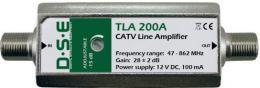 DSE zesilova� linkov� TV+CATV 15-30 dB, s regulac�
