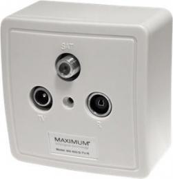 EET MAXIMUM zásuvka MX 600 SAT/TV/Radio  - koncová