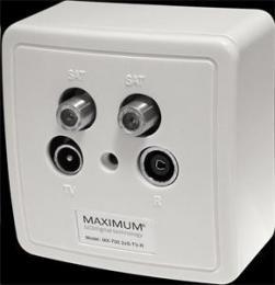 EET MAXIMUM zásuvka MX 700 2 x SAT/TV/Radio - koncová