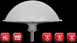 FTE DVB-T anténa vícepásmová pro lodì a karavany, 109 dBuV