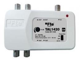 FTE linkov� zesilova� TAL 1420 s LTE filtrem a regulac� zisku, 4x v�stup