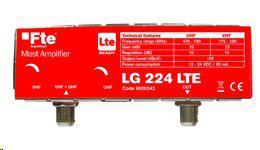 FTE zesilovaè LG 224 s LTE filtrem, zesílení 22 dB, 1x vstup