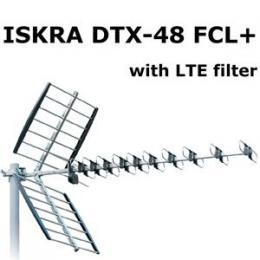 ISKRA DVB-T ant�na DTX-48F FCL+ LTE + GSM filtr s F konektorem 11 - 16 dB