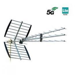 ISKRA P-47 N Triplex FLT7 - DVB-T/T2 anténa LTE700 5G s F konektorem 11-17dB