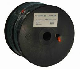 Koaxiální kabel  Zircon CCS 125 ALPE èerný - návin 100 m
