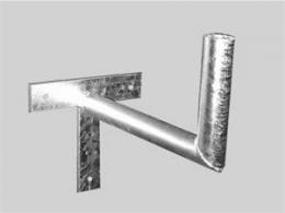 OEM držák antény na zeï 30 cm - žárový zinek
