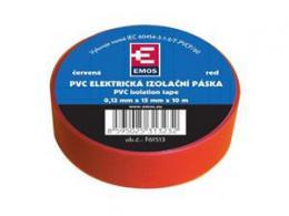 OEM p�ska izola�n� PVC 19mm/9m �erven�