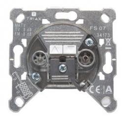TRIAX FS 07 - prùbìžná úèastnická zásuvka TV/R 8 dB