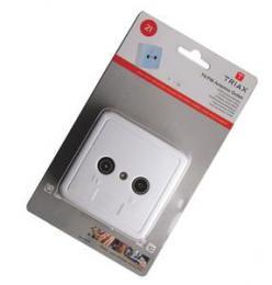 TRIAX úèastnická zásuvka TOU-7, prùbìžná TV+R, 7,5 dB, + bílá krytka