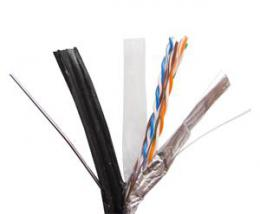 Zircon kabel UTP 5e CUPE 305m èerný - venkovní