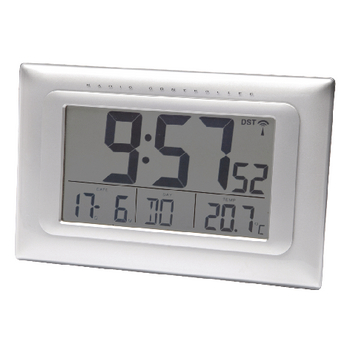 Radio controlled clock LCD