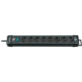 Extension socket Premium-Line 8-way black H05VV-F 3G1,5