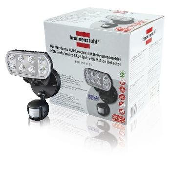 8 W LED svítidlo s pohybovým čidlem IP55