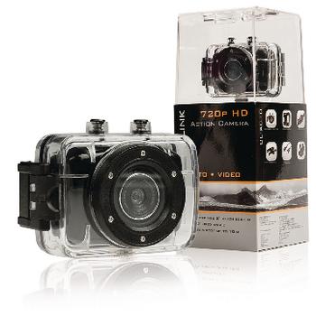 Akční HD kamera 720p s 2 quot; dotykovým displejem