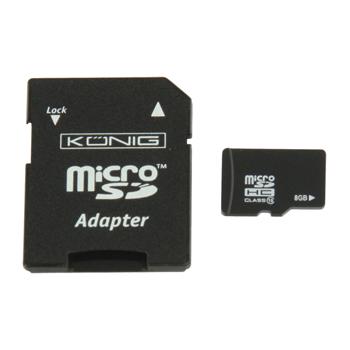 Micro SDHC paměťová karta Class 10, 8 GB