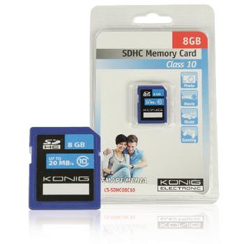 SDHC paměťová karta Class 10, 8 GB
