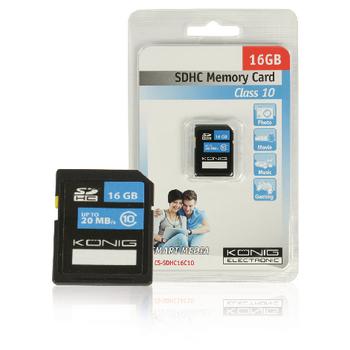 SDHC paměťová karta Class 10 16 GB