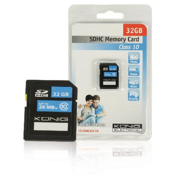 SDHC paměťová karta Class 10 32 GB