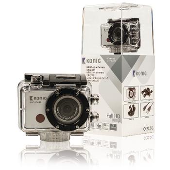 Akční Full HD kamera 1080p, vodotěsná, WiFi