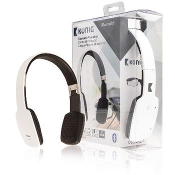 Bluetooth headset, bílý