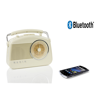 Retro rádio s bezdrátovou technologií Bluetooth®