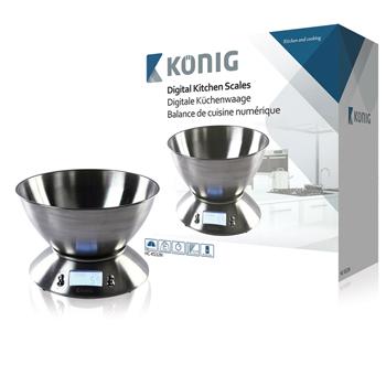 Digitální kuchyňská váha s mísou z nerezové oceli