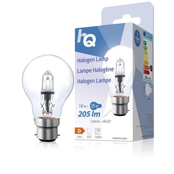 Halogenová žárovka, klasická, B22, 18 W, 205 lm, 2 800 K