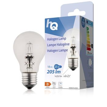 Halogenová žárovka, klasická, E27, 18 W, 205 lm, 2 800 K