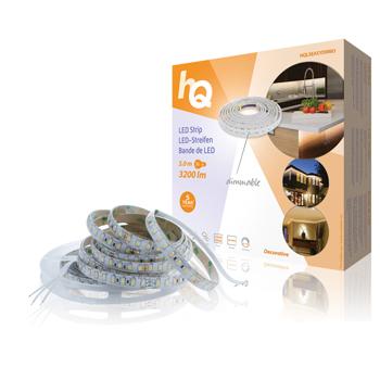 LED pásek pro snadné upevnění, stmívatelný, vnitřní/venkovní, 3 200 lm, 5 m